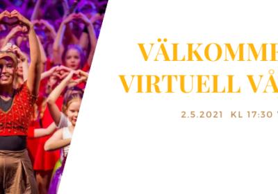 Välkommen på virtuell vårfest 2.5.2021!